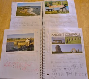 vacation postcard lessons