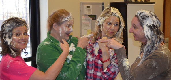 The 4 Commanders after we received pies in the face for $$ raised for hunger relief.