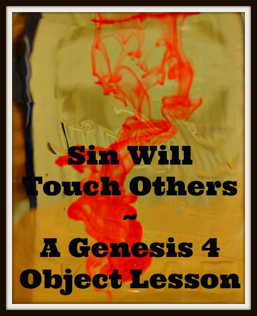 Sin will touch others genesis 4 cain and abel object for Cain and abel crafts