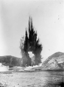 The Waimangu ('black water') geyser was the largest geyser recorded anywhere in the world, erupting between 1900 and 1904. See http://www.teara.govt.nz/en/photograph/6497/waimangu-geyser-the-worlds-largest for more information.